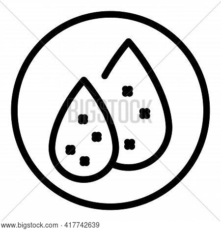 Organic Water Drops Icon. Outline Organic Water Drops Vector Icon For Web Design Isolated On White B