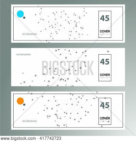 Trendy Business Card For Cover Design. Abstract Geometric Background. White Background. Modern Vecto