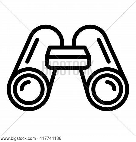 Travel Binoculars Icon. Outline Travel Binoculars Vector Icon For Web Design Isolated On White Backg