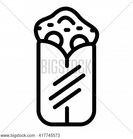 Grilled Kebab Icon. Outline Grilled Kebab Vector Icon For Web Design Isolated On White Background