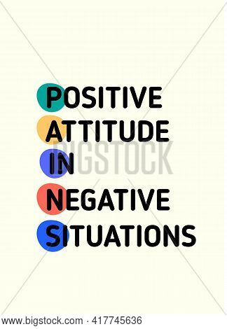 Positive Attitude In Negative Situation Motivational Poster Quote, Gratitude Behavior Banner For Wal