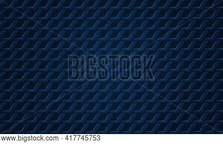 Dark Textured Navy Blue 3d Background. Dark Metal Texture Steel Three-dimensional Backdrop. Navy Blu