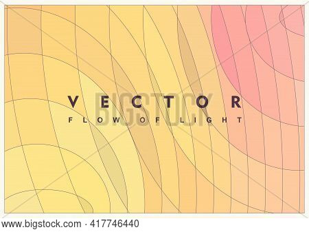 Abstract Wavy Background With Dynamic Effect. Modern Screen Design For Mobile App And Web. 3d Vector