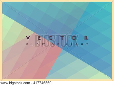 Abstract Background With Dynamic Effect. Modern Screen Design For Mobile App And Web. 3d Vector Illu