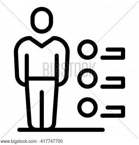 Human Diagnosis Icon. Outline Human Diagnosis Vector Icon For Web Design Isolated On White Backgroun