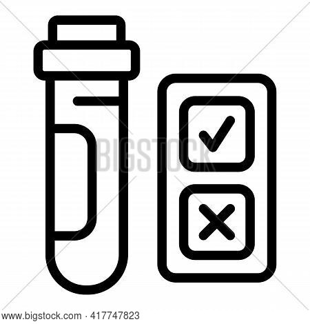 Lab Tube Icon. Outline Lab Tube Vector Icon For Web Design Isolated On White Background