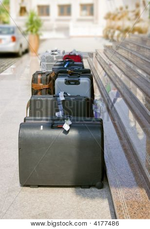 Suitcases Waiting For Departure
