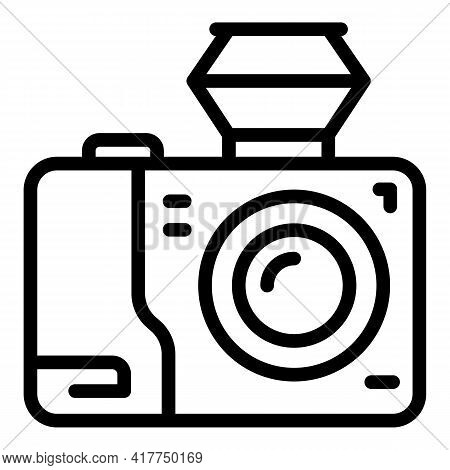 Trip Video Camera Icon. Outline Trip Video Camera Vector Icon For Web Design Isolated On White Backg