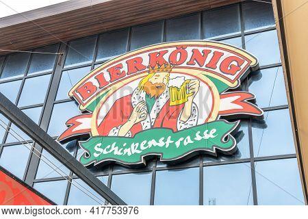 Playa De Palma, Spain; April 20 2021: Bierkönig Brewery In Playa De Palma, On The Island Of Mallorca