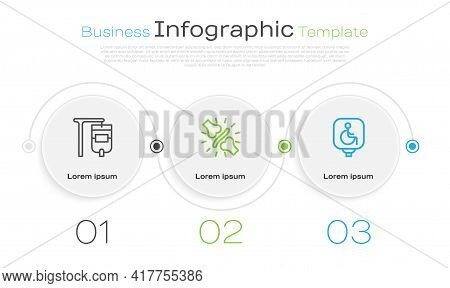 Set Line Iv Bag, Joint Pain, Knee Pain And Disabled Wheelchair. Business Infographic Template. Vecto