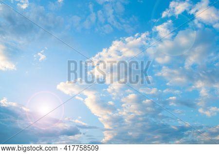 Sky landscape, blue sky and sunset light, sunset sky background. Blue sky,sky background,picturesque sky,vast blue sky landscape Sky landscape.Sky background.Dramatic blue sky background,scenic sky landscape,sky panoramic scene,sunny blue sky, sky landsca