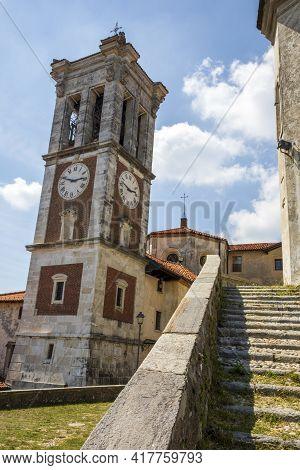 Sacro Monte (va), Italy - June 01, 2020: The Church's Ring Bell At Pilgrimage Village Of Santa Maria