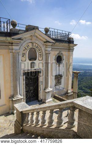 Sacro Monte (va), Italy - June 01, 2020: Baroffio Museum At Pilgrimage Village Of Santa Maria Del Mo