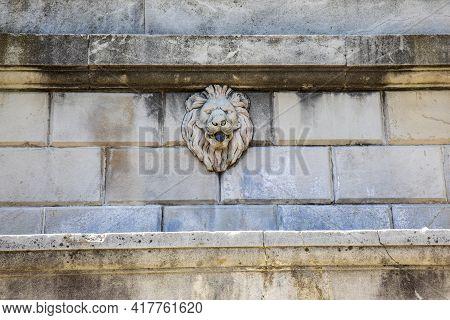 Sacro Monte (va), Italy - June 01, 2020: Fountain Detail At Pilgrimage Village Of Santa Maria Del Mo
