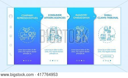 Consumer Safeguard Onboarding Vector Template. Responsive Mobile Website With Icons. Web Page Walkth