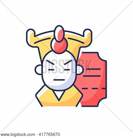 Chinese Opera Rgb Color Icon. Traditional Cantonese Performative Art. Classical Asian Theater In Bei