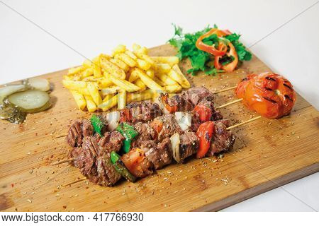 Beef Steak With Vegetables Tasty And Delicious Fresh And Healthy Organic Natural  Barbecue Lunch Din