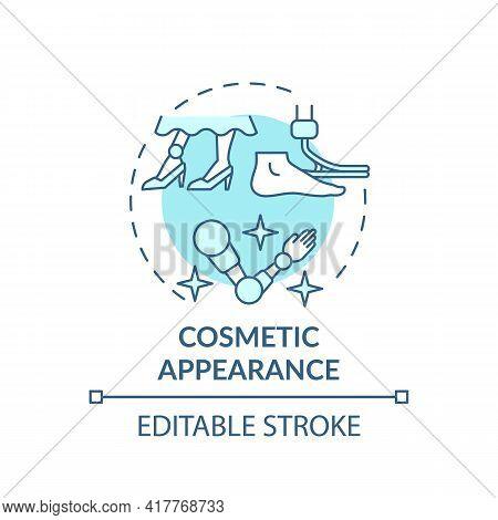 Cosmetic Appearance Concept Icon. Lower-limb Prostheses Idea Thin Line Illustration. Adding Realisti