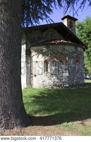Sesto Calende (va), Italy - September 15, 2016: San Vincenzo Oratory View, Sesto Calende, Varese, Lo