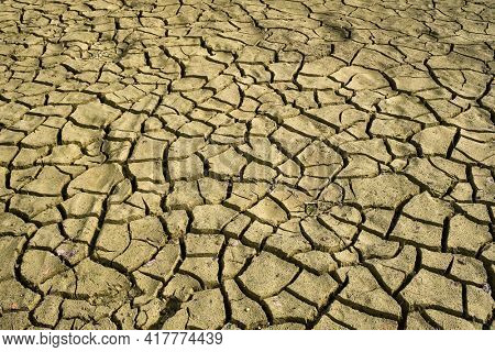 Cracked dry earth with cracks texture