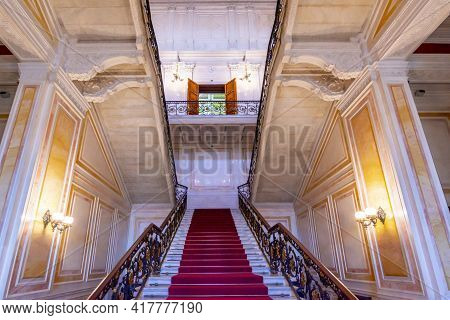 Saint Petersburg, Russia - April 2021: Soviet Staircase In Winter Palace (hermitage Museum)