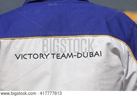 Stresa (vco), Italy - October 04, 2009: A Shirt Of Dubai Team At World Offshore Powerboat Championsh