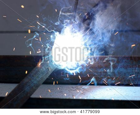 electric arc and sparks