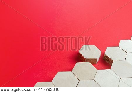 Hexagonal Figure Emerges From Holistic Structure. Leave The Line, Exit The System. Go Away. Join Or