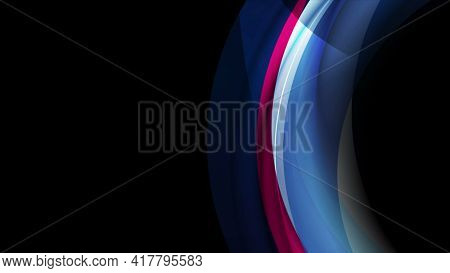 Colorful blue violet glowing abstract curved waves background