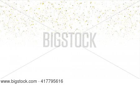 Abstract golden glowing dust particles background