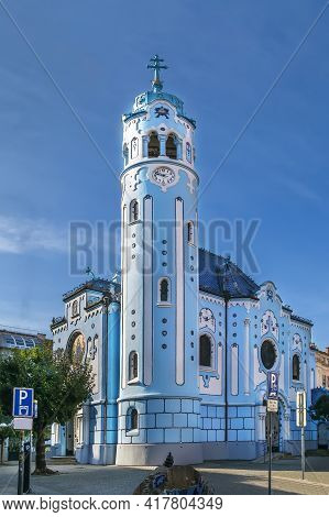 Church Of St. Elizabeth Commonly Known As Blue Church Is A Hungarian Secessionist (jugendstil, Art N