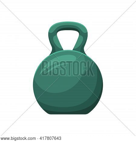 Vector Illustration Of A Kettlebell. Sports Equipment. Weightlifting.