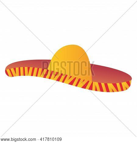 Traditional Mexican Hat Icon. Mexican Folklore - Vector