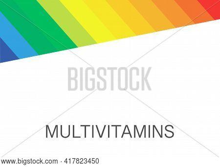 Multi Vitamin Mineral Complex Supplement, Label Design. Natural Medicine Logo Template. Vector Isola