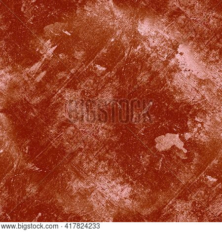 Red Dirty Grunge Wallpaper. Aged Dirt Dust Design. Distress Brush Stamp. Graphic Paint Illustration.