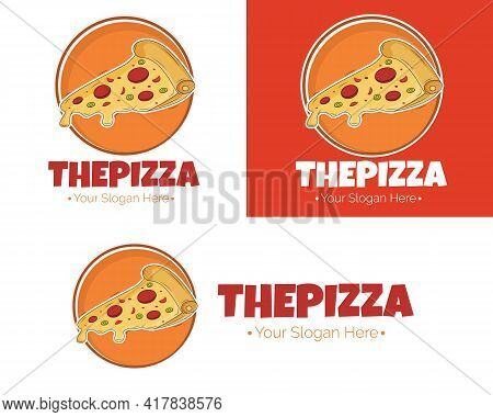 Illustration Vector Design Of The Pizza Logo Template For Your Business Or Company
