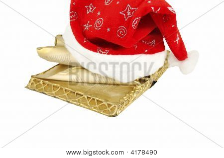 Hat And Christmas Book From Santa Claus