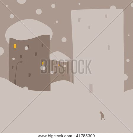 Snow anomaly and new snow house