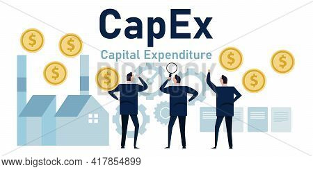Capex Capital Expenditure Company Investment Money Vector