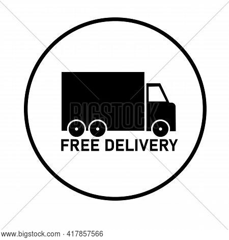 Free Delivery Icon On White Background. Flat Style. Free Delivery Sign. Delivery Truck Symbol. Expre