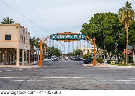 An Entrance Road Going In Yuma, Arizona