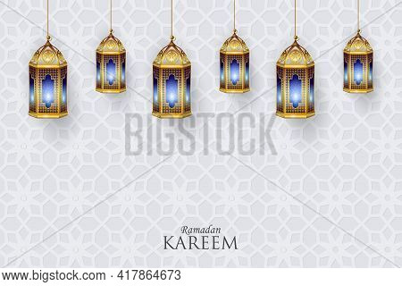 Vector Illustration Of Islamic Celebration Background With Text Ramadan Kareem