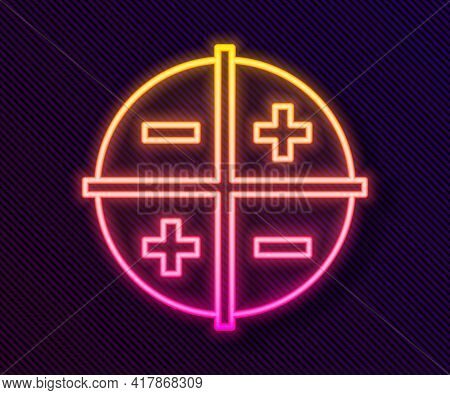 Glowing Neon Line Xyz Coordinate System Icon Isolated On Black Background. Xyz Axis For Graph Statis