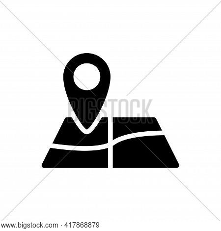 Map Pointer Icon Vector Illustration. Gps Location Symbol With With Pin Pointer For Graphic Design,