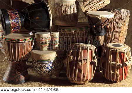 Fagnano Olona (va), Italy - June 30, 2017: African Art Drums.