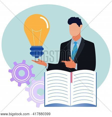 Vector Illustration, Collect Ideas And Choose The Best Of Many Ideas After Brainstorming Critical Th