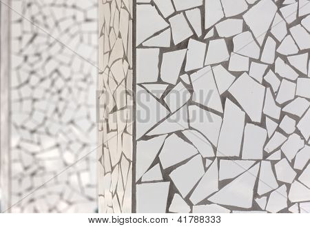 broken tiles mosaic trencadis typical from Mediterranean Spain
