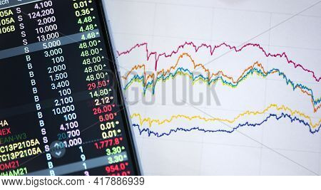 Trading Online On The Smart Phone. New Ways To Make Economy And Trading.
