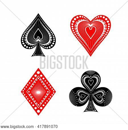 The Illustration - Playing Card Set Of Aces.