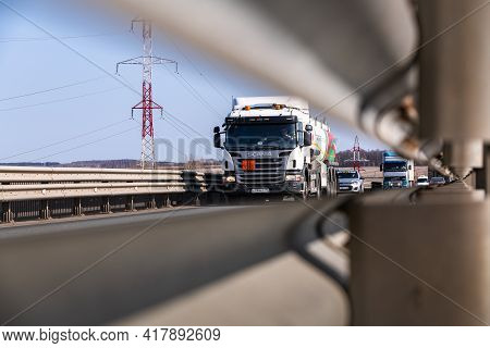 Tatarstan, Russia, Interstate Highway M7  - Apr 14th 2021. A Petrol Tanker Of Pjsc Tatneft Crosses T